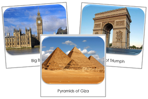Around The World Safari Toob Cards - Montessori Print Shop