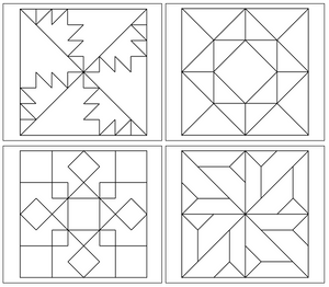 Geometric Art Patterns (Set 3) - Montessori Print Shop