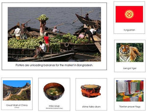 Asia Geography Bundle - Montessori geography cards