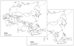 Asian Capital Cities Map - Montessori Print Shop geography materials