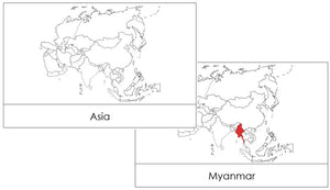 Asia Flash Cards - Montessori Print Shop geography cards