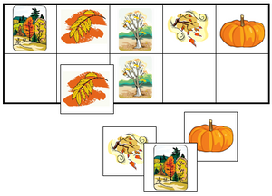 Fall Match-Up & Memory Game - Montessori Print Shop