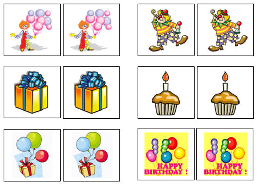 Birthday Match-Up & Memory Game - Montessori Print Shop