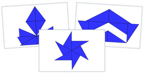 Montessori Blue Constructive Triangles Design Cards - Montessori Print Shop