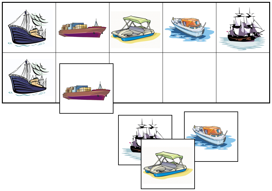 Boat Match-Up & Memory Game - Montessori Print Shop
