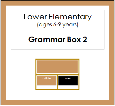 Grammar Box #2 - Articles - elementary montessori grammar