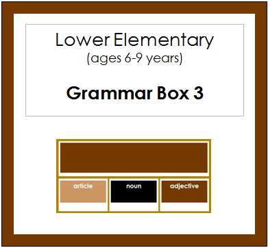 Grammar Box #3 - Adjectives - elementary grammar materials