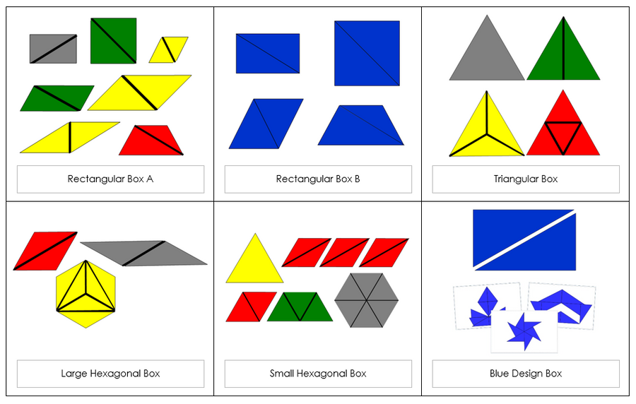 Montessori Constructive Triangles Bundle - Montessori Print Shop