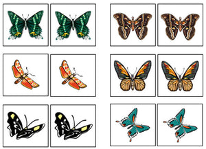 Butterfly Match-Up & Memory Game - Montessori Print Shop