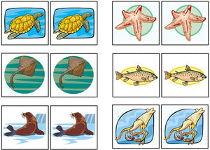 By The Sea Match-Up & Memory Game - Montessori Print Shop