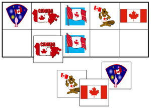 Canada Day Match-Up & Memory Game - Montessori Print Shop