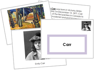 Emily Carr Art Book (border) - Montessori Print Shop