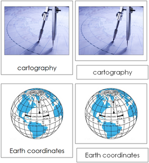 Cartography Nomenclature 3-Part Cards - Montessori Print Shop