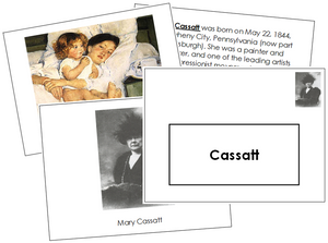 Mary Cassatt Art Book - montessori art book