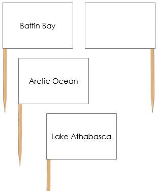 Canadian Bodies of Water Pin Flags - Montessori geography materials