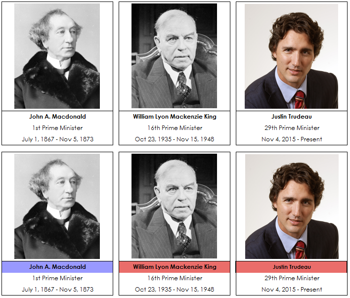 Canadian Prime Minister Cards - Montessori Print Shop