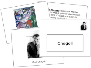 Marc Chagall Art Book - montessori art materials