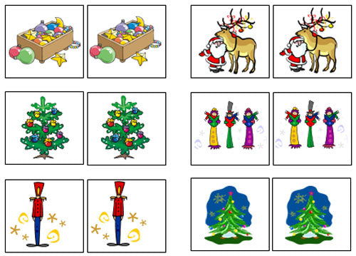Christmas Match-Up & Memory Game - Montessori Print Shop