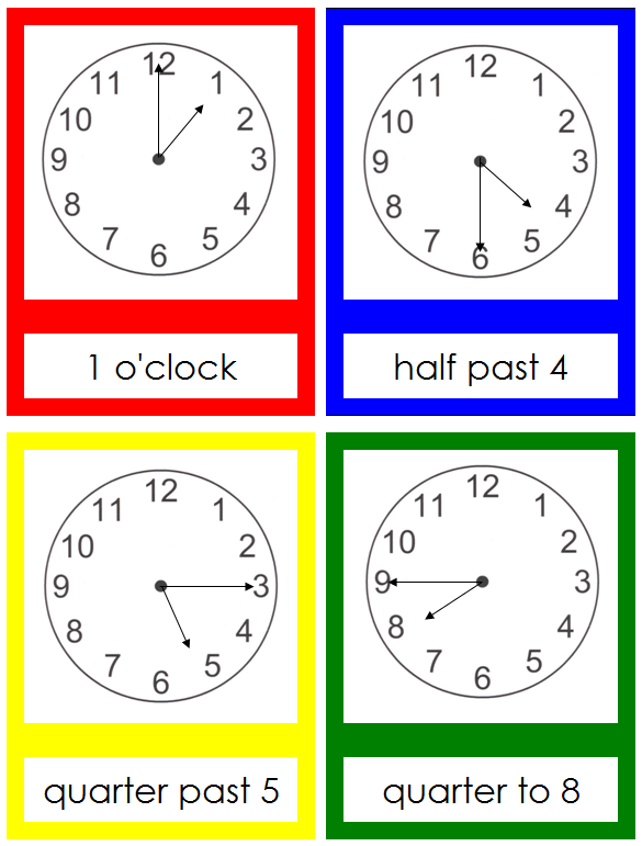 clock series - Montessori Print Shop