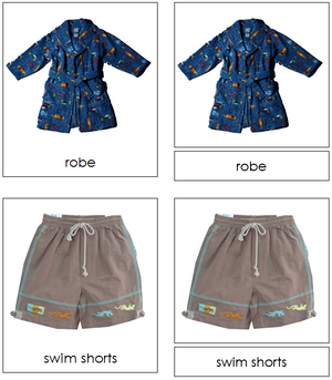 clothing 3-part classified cards - Montessori Print Shop