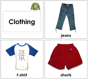 Montessori Toddler Clothing Cards