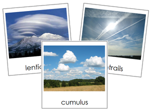 Cloud Nomenclature Cards - Montessori Print Shop