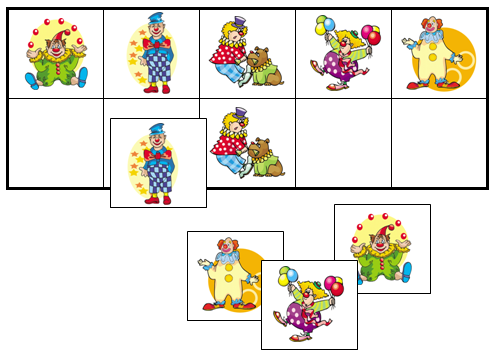 Clown Match-Up & Memory Game - Montessori Print Shop