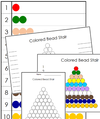Colored Bead Control Chart & Masters - Montessori math
