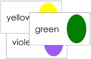 Color Sorting Cards - preschool color cards