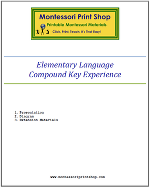 Elementary Montessori Compound Key Experience - Montessori Print Shop