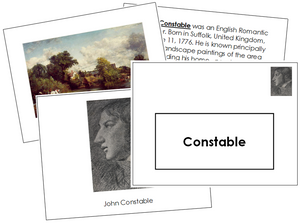John Constable Art Book - montessori art materials