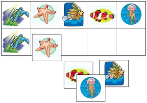 Coral Reef Match-Up & Memory Game - Montessori Print Shop