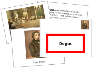 Edgar Degas Art Book - montessori art materials