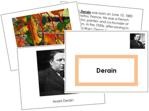 Andre Derain Art Book - montessori art materials