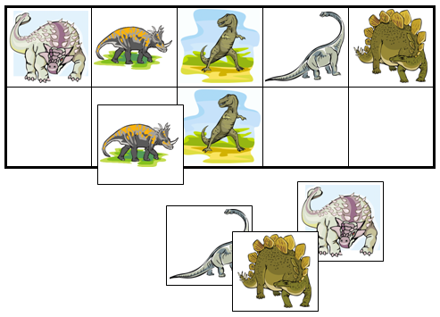 Dinosaur Match-Up & Memory Game - Montessori Print Shop