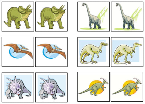 photograph about Animal Matching Game Printable named Dinosaur Game-Up Memory Recreation