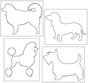 dog cutting and pin punching - Montessori Print Shop