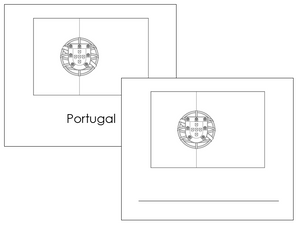 European Flags: Outlines - Montessori geography materials