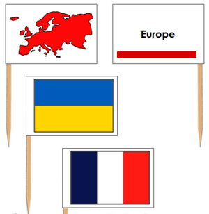 European Flags: Pin Flags - Montessori geography materials
