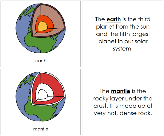 earth nomenclature book (red) - Montessori Print Shop