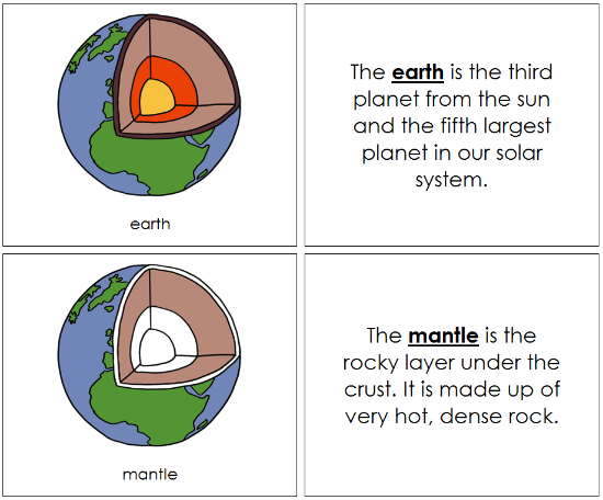 earth nomenclature book - Montessori Print Shop