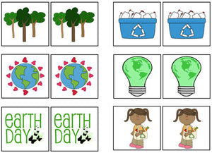 Earth Day Match-Up & Memory Game - Montessori Print Shop