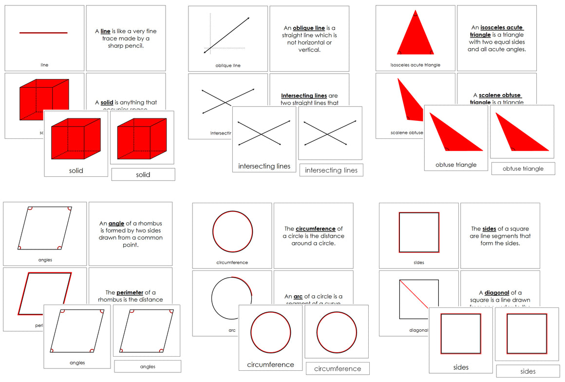 Elementary Montessori Geometry Bundle - Montessori Print Shop