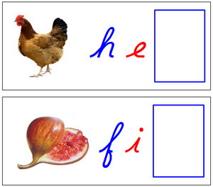phonetic sound cards - Montessori moveable alphabet
