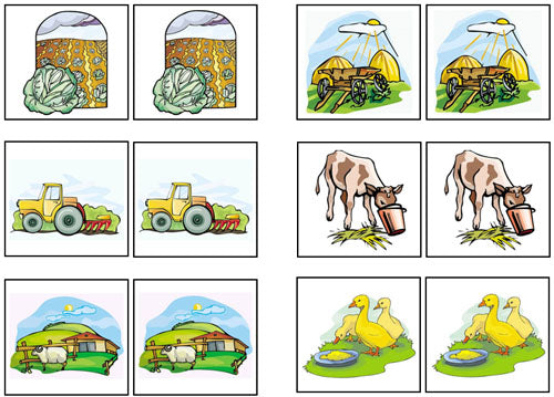 Farm Match-Up & Memory Game - Montessori Print Shop
