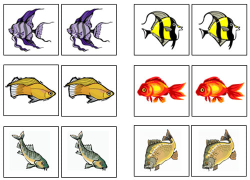 photograph about Animal Matching Game Printable titled Fish Video game-Up Memory Video game