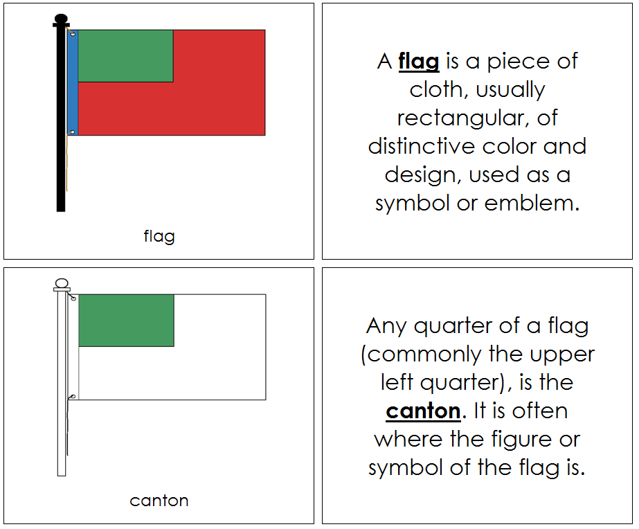 Flag Nomenclature - Montessori Print Shop