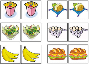 Food Match-Up & Memory Game - Montessori Print Shop
