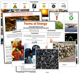 Forms of Energy Cards and Chart - Montessori Print Shop