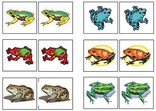Frog Match-Up & Memory Game - Montessori Print Shop